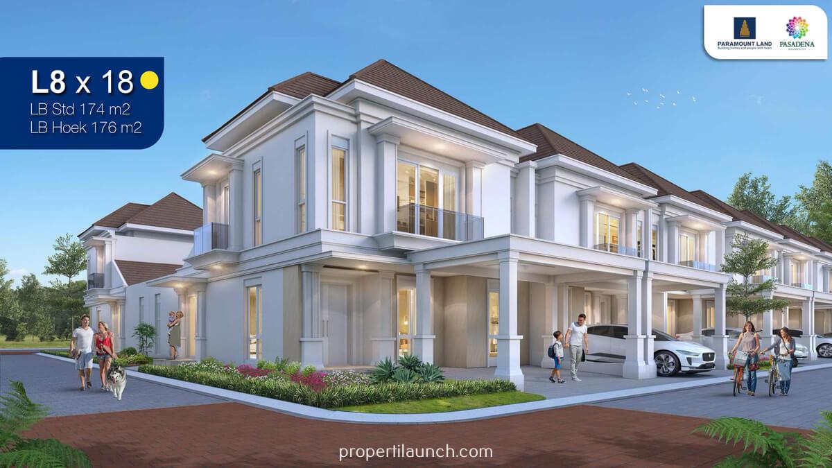 Rumah Pasadena Residence Paramount Land Serpong Tipe 8