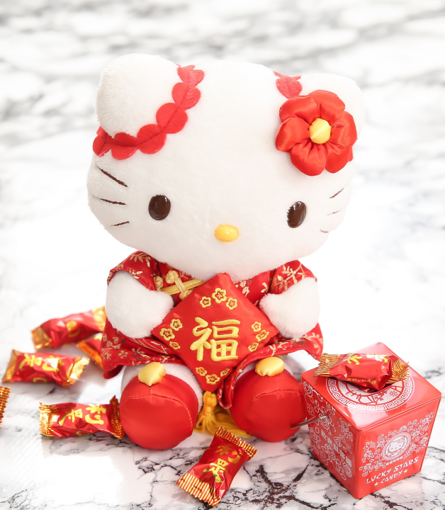 photo of a hello kitty doll