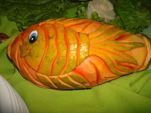 Curso de esculturas em frutas e legumes / Fruit and vegetable carving Chef / Beth Hotz. / site: www.bethhotz.com.br