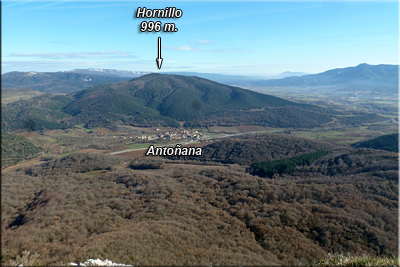 Hornillo visto desde la cima de Soila