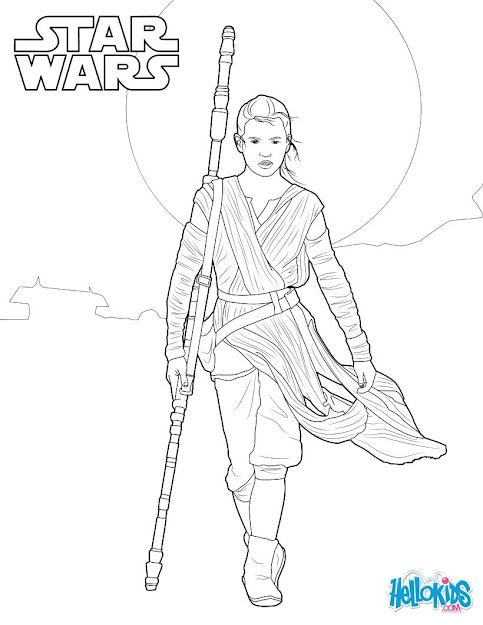 Star Wars  Rey Coloring Page