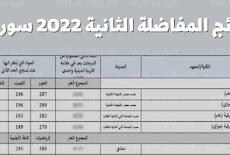 نتائج المفاضلة العامة (الثانية في سورية) ..