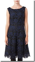 Phase Eight black and blue lace dress