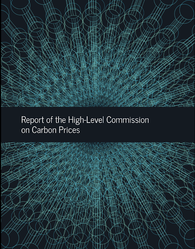 Cover of the 'Report of the High-Level Commission on Carbon Prices', led by Nobel Laureate Joseph Stiglitz and Lord Nicholas Stern. Graphic: Carbon Pricing Leadership Coalition