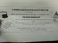 Polres Rembang adakan Lomba Ketangkasan Becak memeriahkan Hari Kemerdekaan RI ke 71 tahun 2016