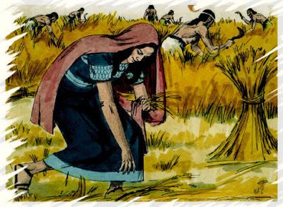 Rute colhendo trigo