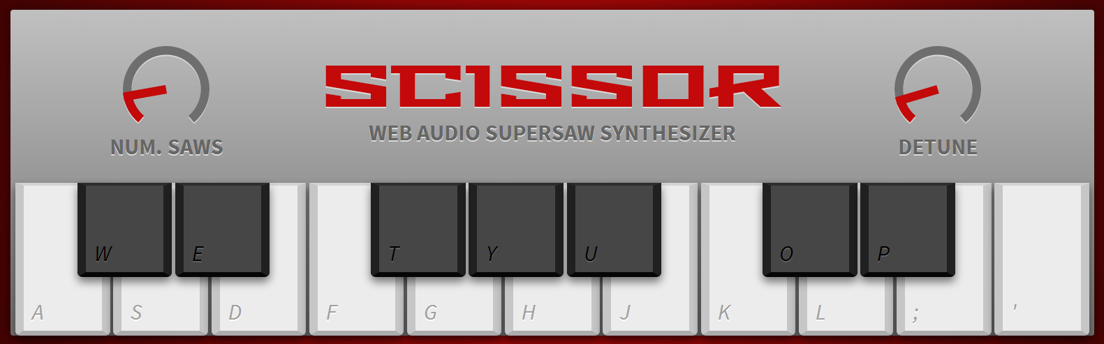 Web Audio Supersaw Synthesizer