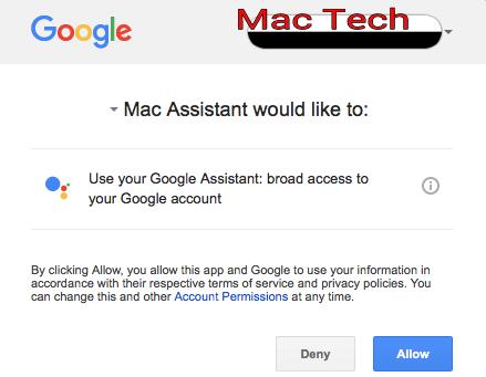 Google assistant on mac