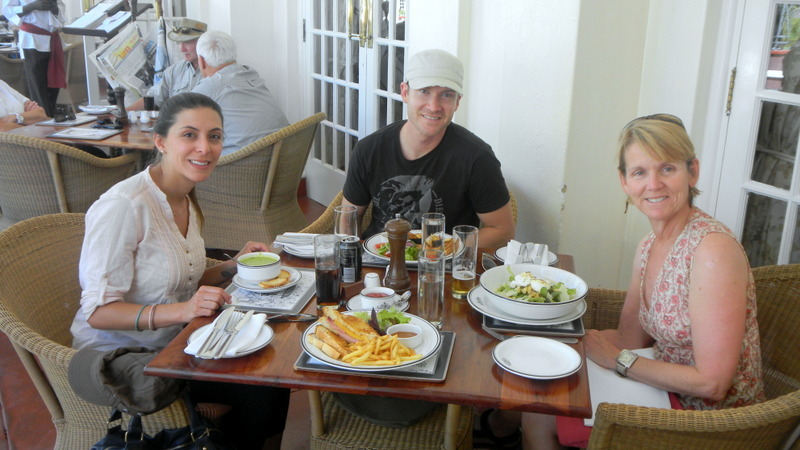 Lunch at Vic Falls Hotel