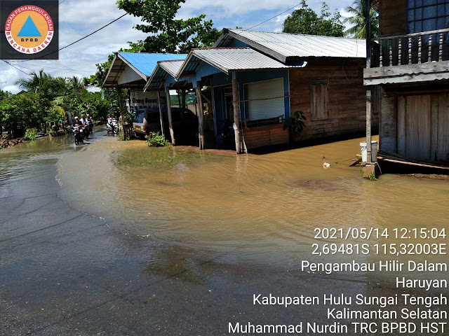 Banjir di Hantakan Mulai Surut, Puluhan Pengungsi Kembali ke Rumah