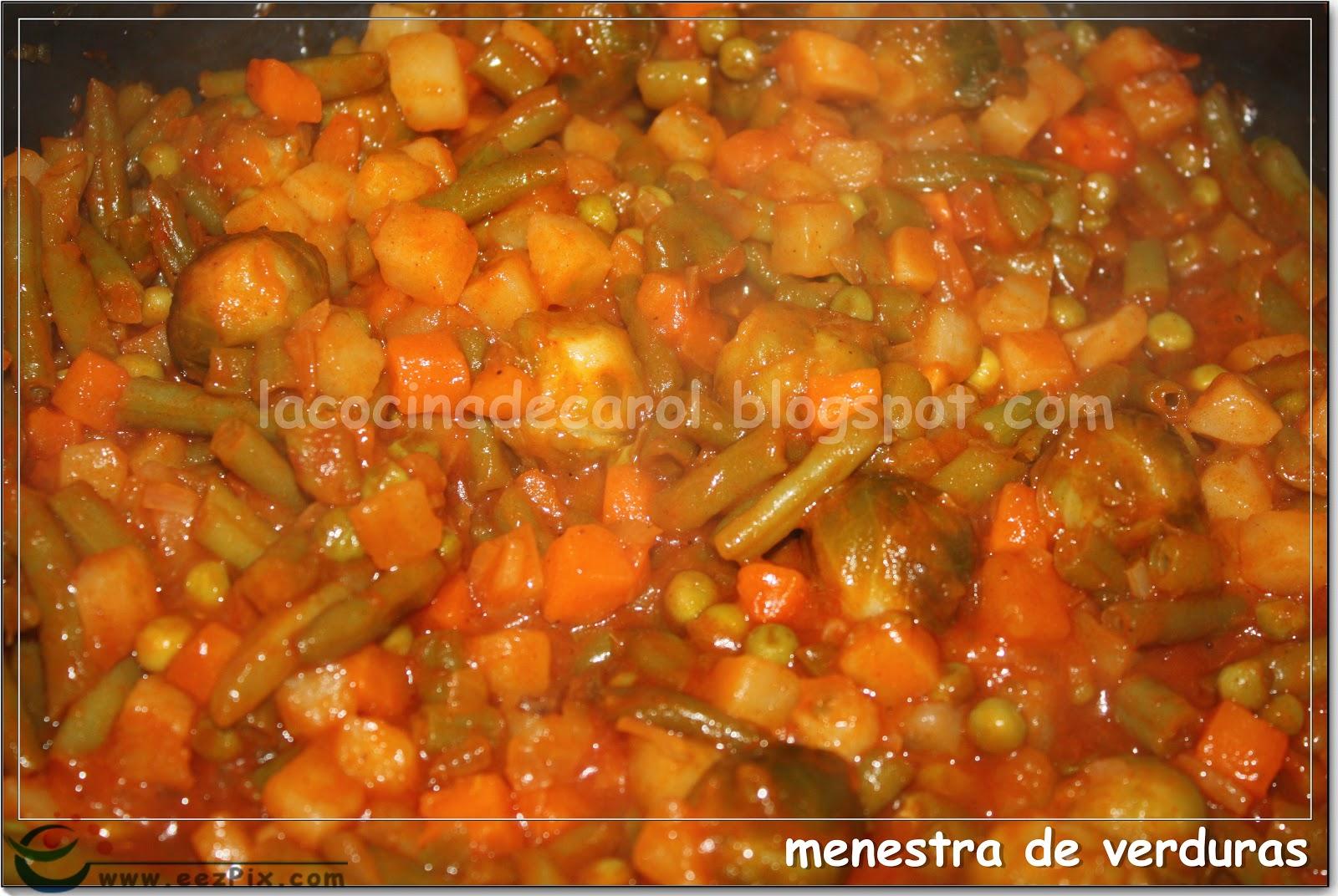 La cocina de carol menestra de verduras - Menestra de verduras en texturas ...