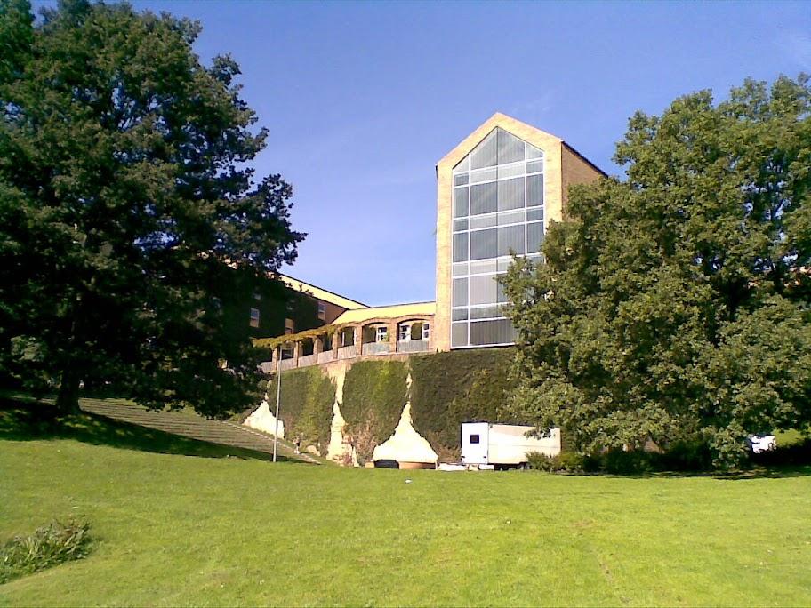 Motiv af Aulaen ved Aarhus Universitet