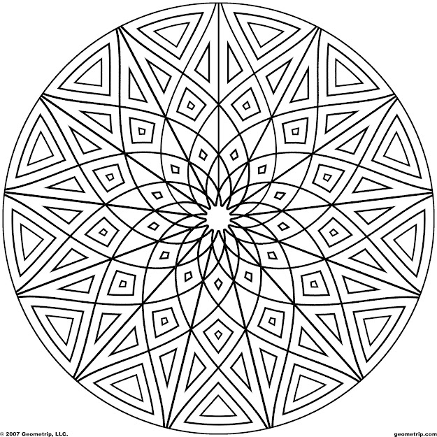 Cool Geometric Designs Coloring Page For Free  Circles Page  Of
