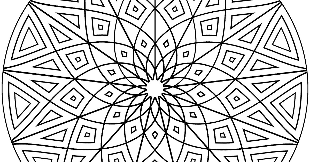 Best HD Cool Geometric Design Coloring Pages Free