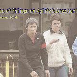 Françoise et Philippe en Agilty à grez le 30 mars 2014