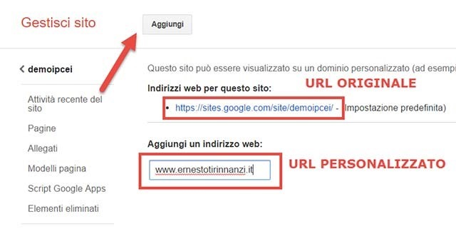 redirect-dominio-personalizzato-google-sites