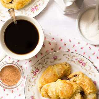 Puff Pastry Chocolate Croissants (Small Batch).