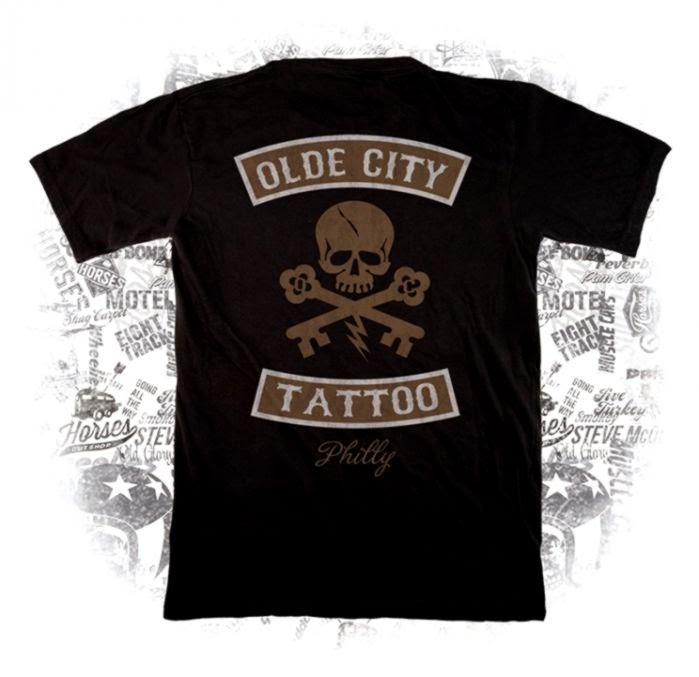 Olde City Tattoo T Shirt   Horses Cut Shop Shirt Co