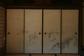 Screen door at Jugetsu-kan villa, Shugakuin Imperial Villa