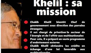 Ce que prépare Chakib Khelil (I)