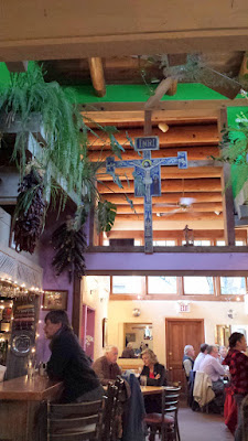 We started with lunch at the famous The Shed, a family owned restaurant since 1953. The atmosphere is like a hacienda with lots of folk art that feels like a neighborhood joint in the heart of downtown Santa Fe.