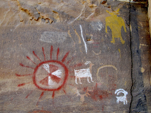 Pictographs at the Pregnant Buffalo panel
