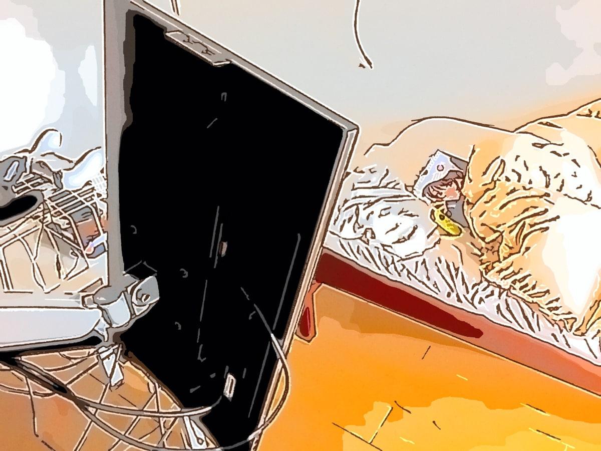 布団の中でデカ画面で寝っ転がって漫画読めたら最高