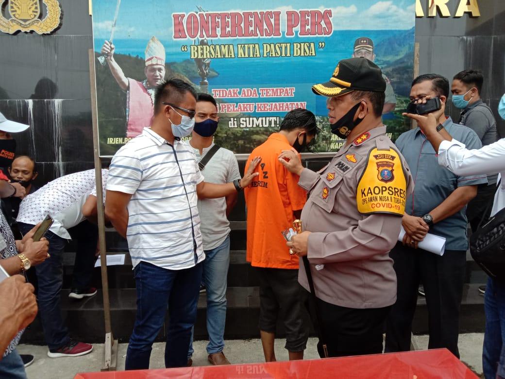 Polres Batu Bara Amankan Tersangka Aktor Aksi Demo Anarkis Tolak UU Omnibus Law