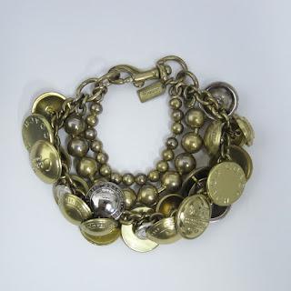 Coach Button Charm Bracelet