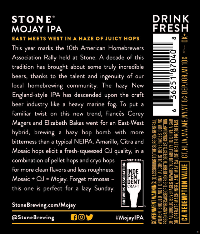 Stone Collaborating On NEW Mojay IPA