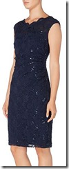 Lauren Ralph Lauren cap sleeved sequined lace dress