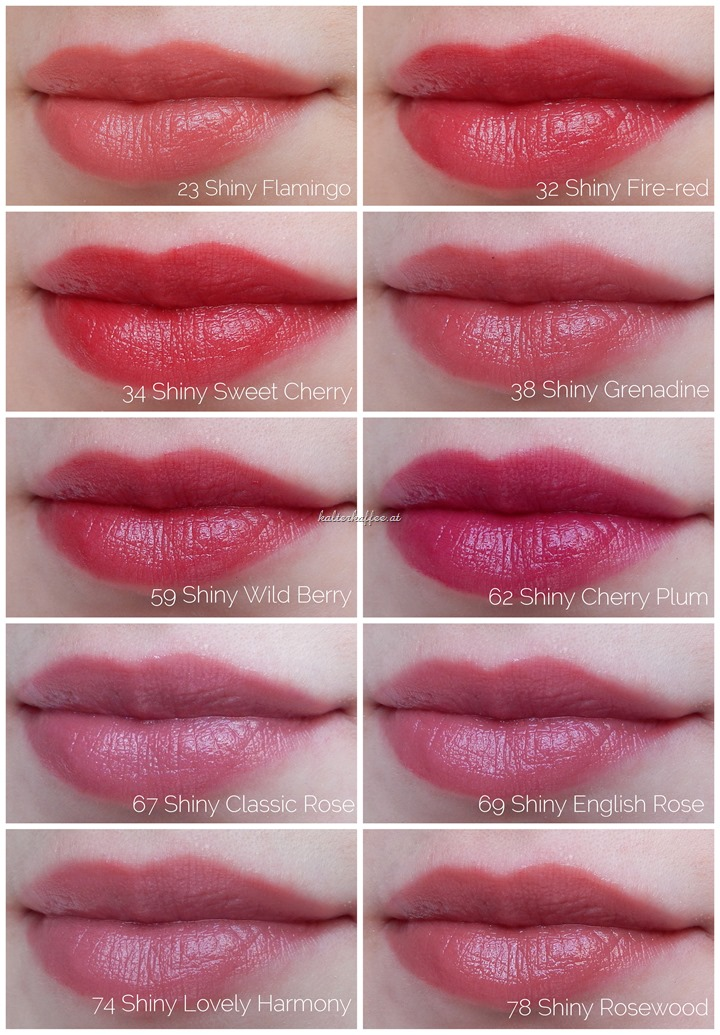 Artdeco Color Lip Shine Lipsticks Lip Swatches