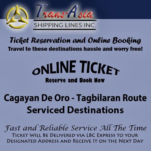 Trans-Asia Shipping Cagayan De Oro-Tagbilaran Route Ticket Reservation and Online Booking