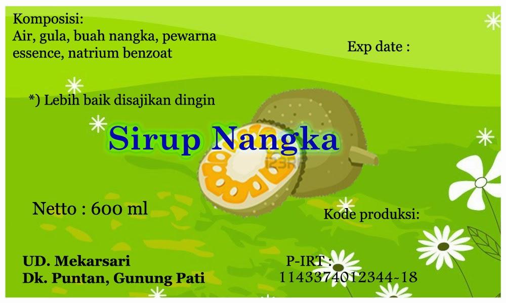 Label Sirup Buah Nangka