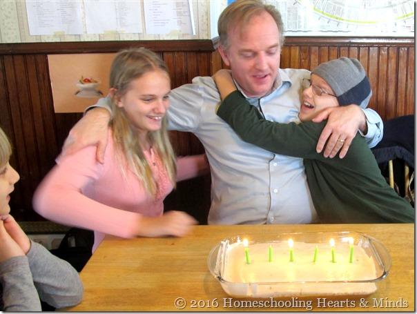 binary birthday cake at Homeschooling Hearts & Minds