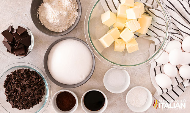 Ingredients for homemade brownies