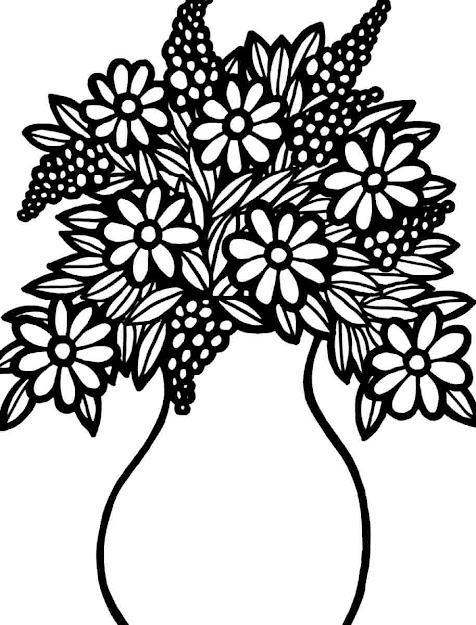Printable Flower Bouquet  Flower Bouquet Coloring Pages Printable