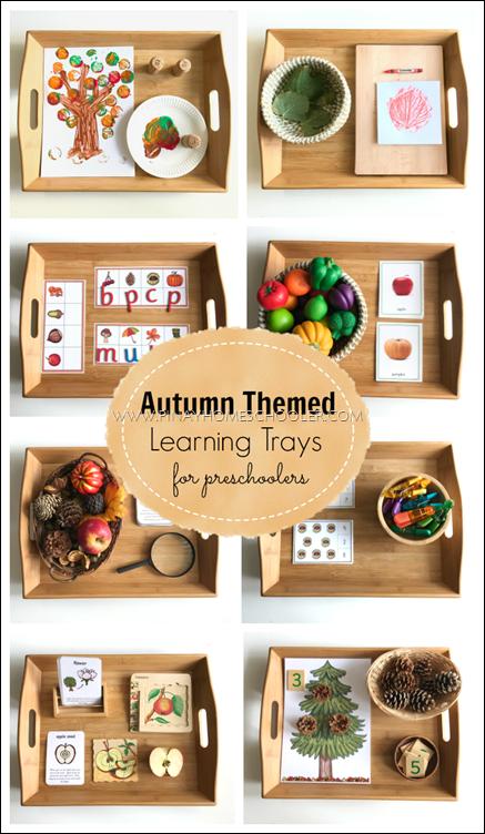 Montessori Inspired Autumn Themed Learning Activities