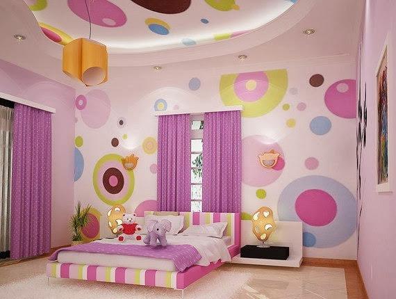 Натяжной потолок с рисунком в комнату детей