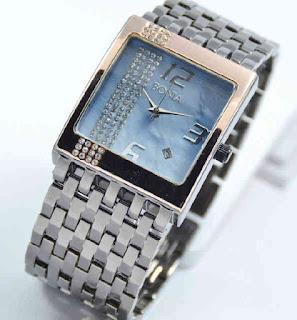 Jual jam tangan Bonia tikar date black chain rosegold