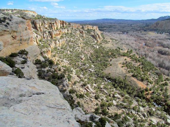 Cliffs above Ashley Creek