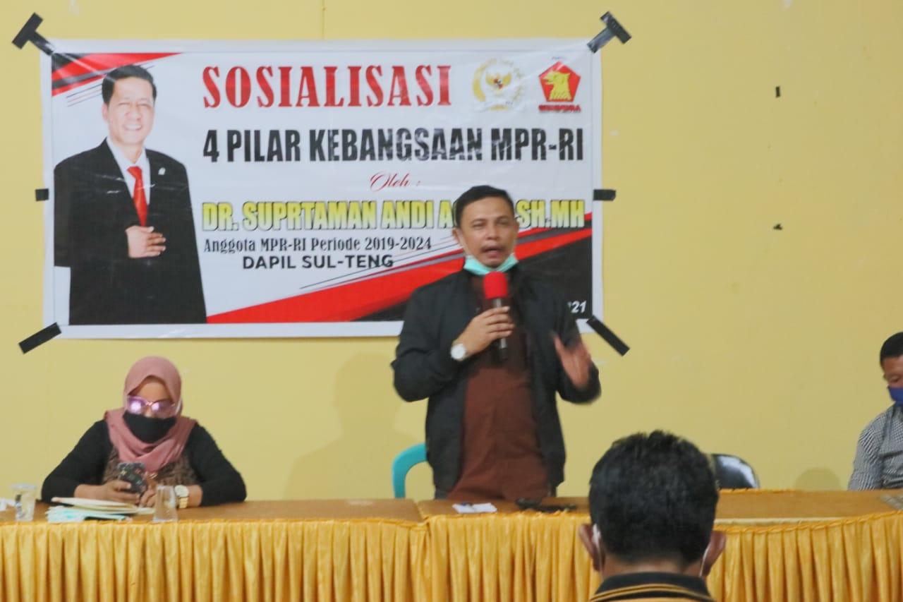 Anggota MPR RI Fraksi Gerindra Sosialisasi Empat Pilar Kebangsaan di Buol