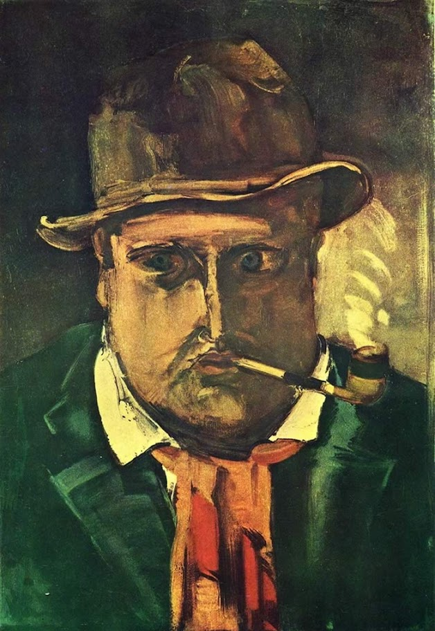 Maurice de Vlaminck - Self Portrait With Pipe