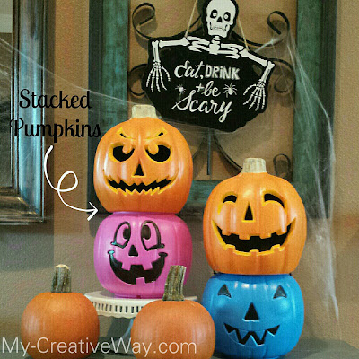 My Creative Way: Easy DIY Stacked Pumpkins