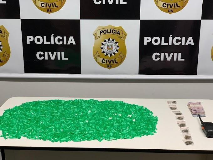 Polícia estoura ponto de tráfico de drogas localizado próximo ao HPS de Canoas