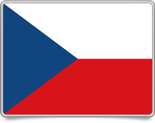 Czech framed flag icons with box shadow