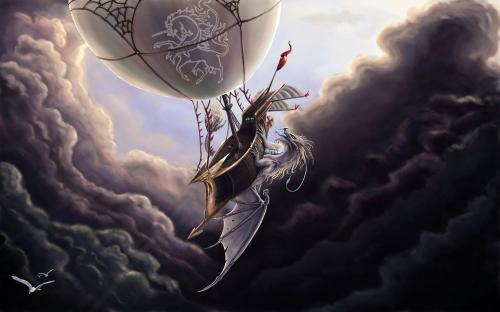 Dragon Attacks Ship, Dragons