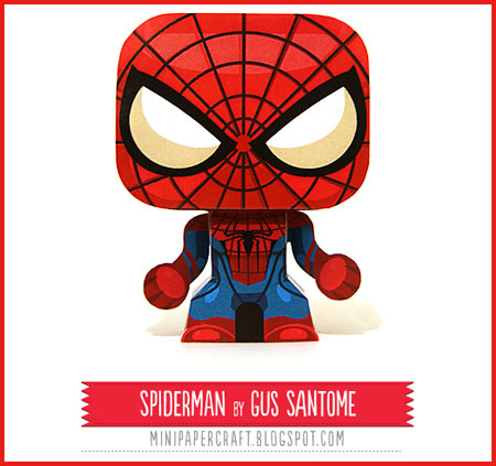 Mini SpiderMan Paper Toy