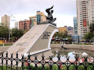 Statue in a park in La Paz Bolivia