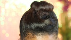 Elegant Top Knot 2nd look step 2 A Beautiful Nest
